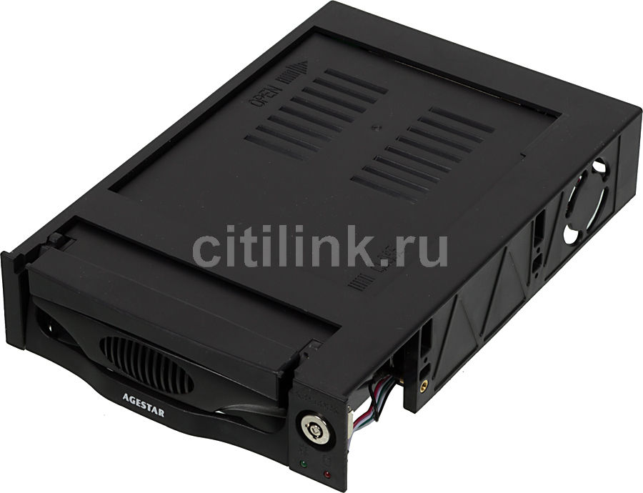 Mobile rack (салазки) для HDD AGESTAR MR3-SATA (k)-F, черный mobile rack agestar sr3p sw 3f sata black