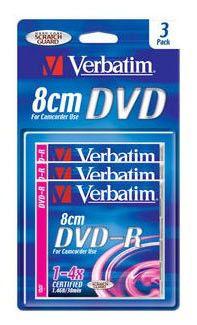 Оптический диск DVD-R VERBATIM 1.46Гб 4x, 3шт., blister pack [43592]