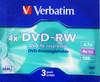 Оптический диск DVD-RW VERBATIM 4.7Гб 4x, 3шт., 43635, slim case вид 1