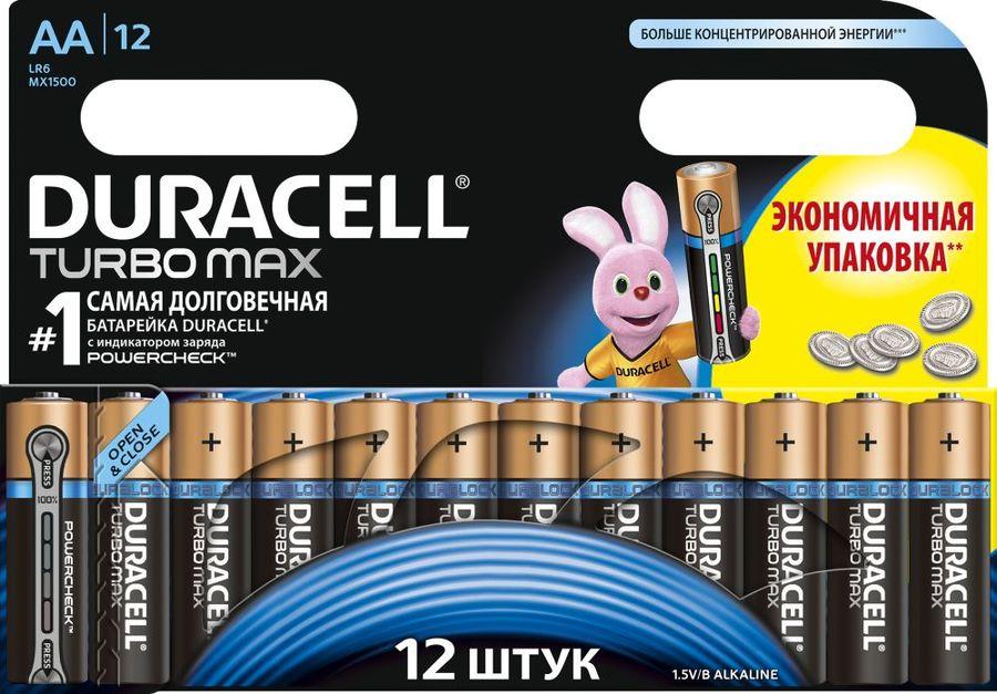 Батарея DURACELL Turbo MAX LR6-12BL,  12 шт. AA