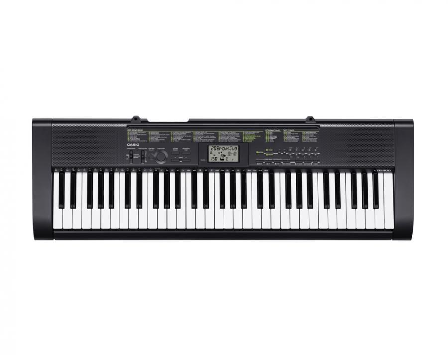 Синтезатор CASIO CTK-1100, 61, невзвешенная, полноразмерные, 12, черный [ctk-1100 + бп]