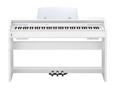 Цифровое фортепиано PRIVIA CASIO PX-750WE, 88, полновзвешенная, полноразмерные, 128, белый