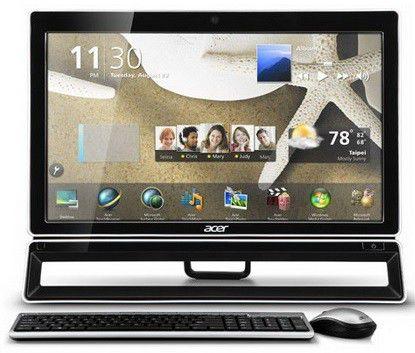 Моноблок ACER Aspire Z3770, Intel Core i5 3330S, 4Гб, 500Гб, nVIDIA GeForce 605 - 1024 Мб, DVD-RW, Windows 8, черный и серебристый [dq.smmer.006]