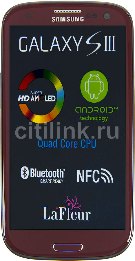 Смартфон SAMSUNG Galaxy S III La Fleur GT-I9300  16Gb, красный