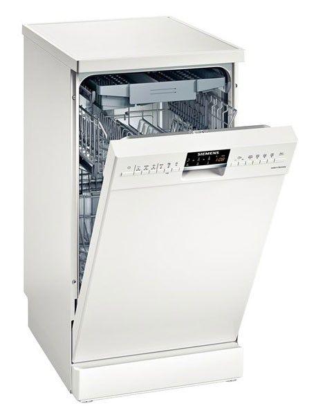 Посудомоечная машина SIEMENS SR 26T290 RU,  узкая, серебристая [sr26t290ru]