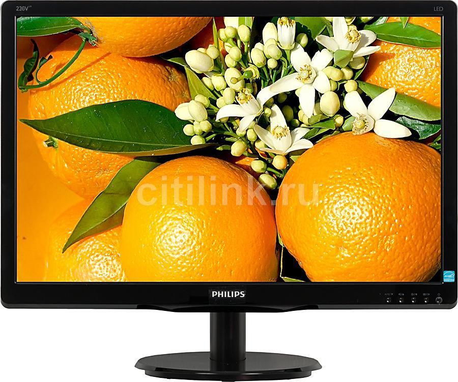 "Монитор ЖК PHILIPS 236V4LSB (00/01) 23"", черный"