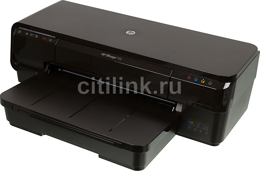 Принтер HP OfficeJet 7110 WF,  струйный, цвет: черный [cr768a]