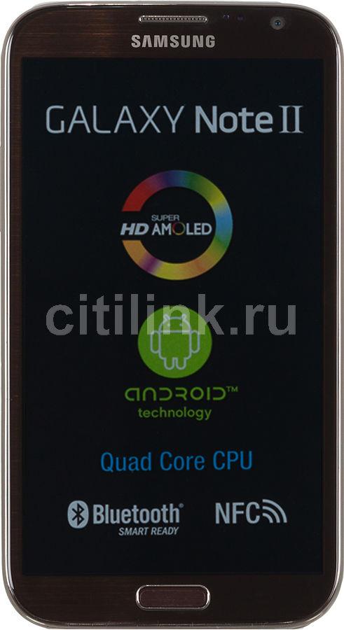 Смартфон SAMSUNG Galaxy Note II GT-N7100  16Gb, коричневый