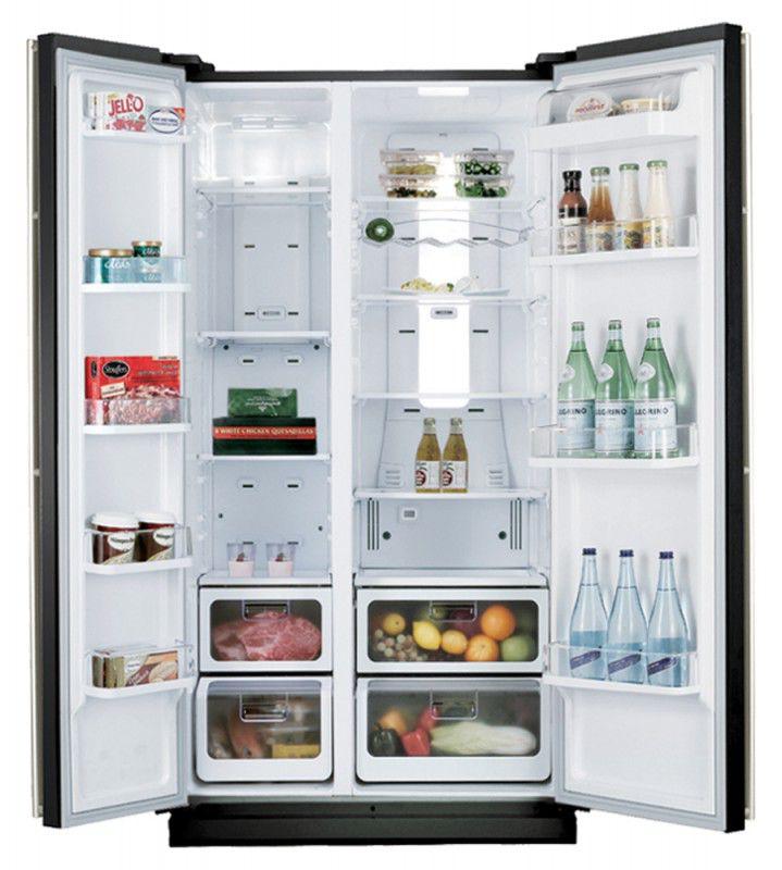 Холодильник SAMSUNG RSH5SLMR,  двухкамерный,  зеркальный [rsh5slmr1/bwt]