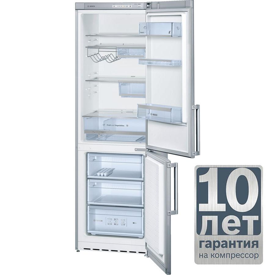 Холодильник BOSCH KGV36XL20R,  двухкамерный,  нержавеющая сталь