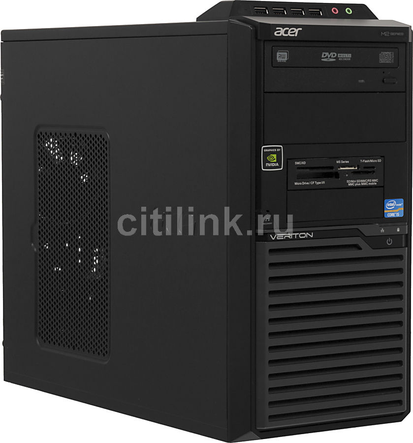 Компьютер  ACER Veriton M2611G,  Intel  Core i5  3330,  DDR3 8Гб, 1000Гб,  nVIDIA GeForce GT630 - 2048 Мб,  DVD-RW,  CR,  Windows 7 Professional,  черный [dt.vffer.010]