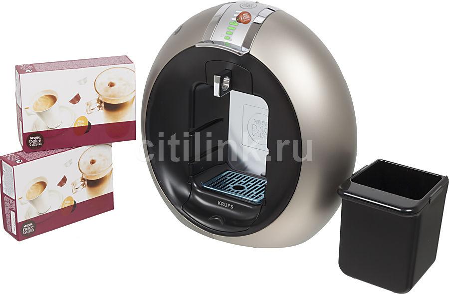 Капсульная кофеварка KRUPS Dolce Gusto KP510T10, 1500Вт, цвет: серебристый [8000034579]