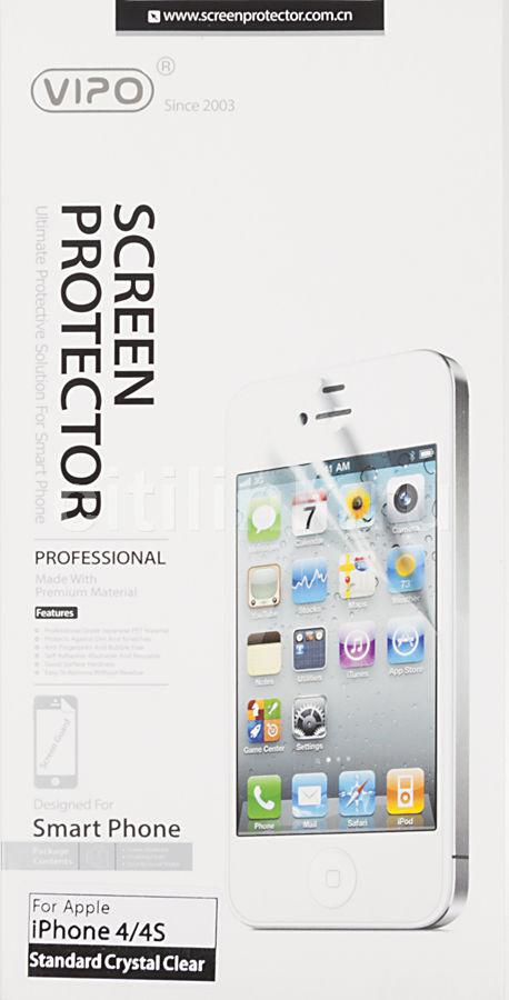 Защитная пленка VIPO для Apple iPhone 4/4S,  прозрачная, 1 шт [iph4/4s cl]