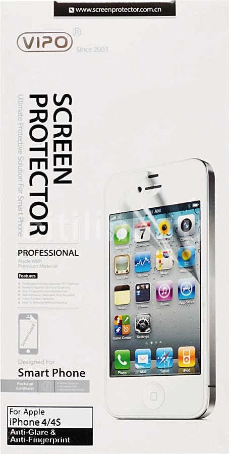 Защитная пленка VIPO для Apple iPhone 4/4S,  матовая, 1 шт [iph4/4s mt]