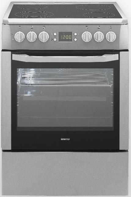 Электрическая плита BEKO CSM 67300 GS,  стеклокерамика,  серый