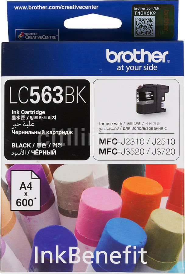Картридж BROTHER LC563BK черный