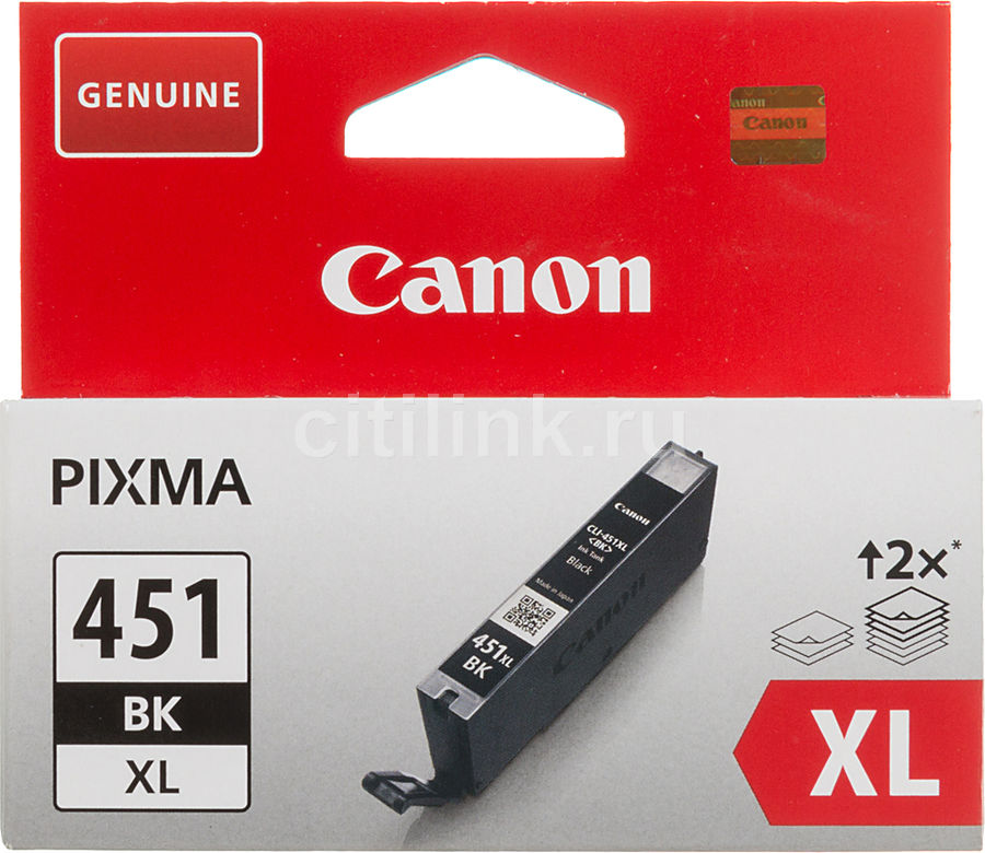 Картридж CANON CLI-451XLBK черный [6472b001] картридж для принтера colouring cg cli 426c cyan