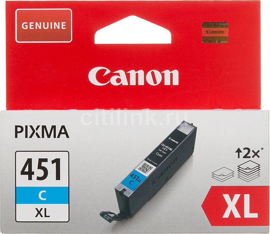 Картридж CANON CLI-451XLC, голубой [6473b001]