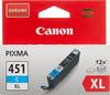 Картридж CANON CLI-451XLC, голубой [6473b001] вид 1