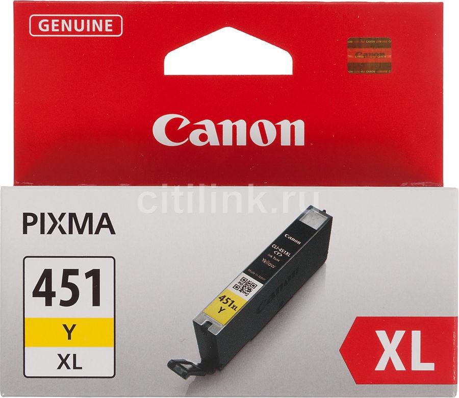 Картридж CANON CLI-451XLY желтый [6475b001]