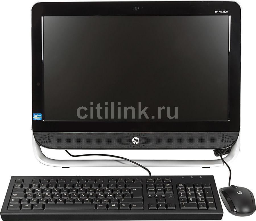 Моноблок HP Pro 3520, Intel Core i3 3220, 2Гб, 500Гб, Intel HD Graphics 2500, DVD-RW, Free DOS, черный и серебристый [c5y35ea]