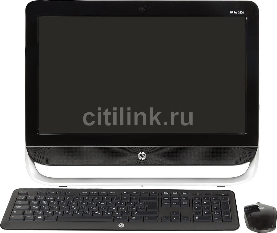 Моноблок HP Pro 3520, Intel Core i3 3220, 4Гб, 1000Гб, Intel HD Graphics 2500, DVD-RW, Windows 8, черный и серебристый [b5j72ea]