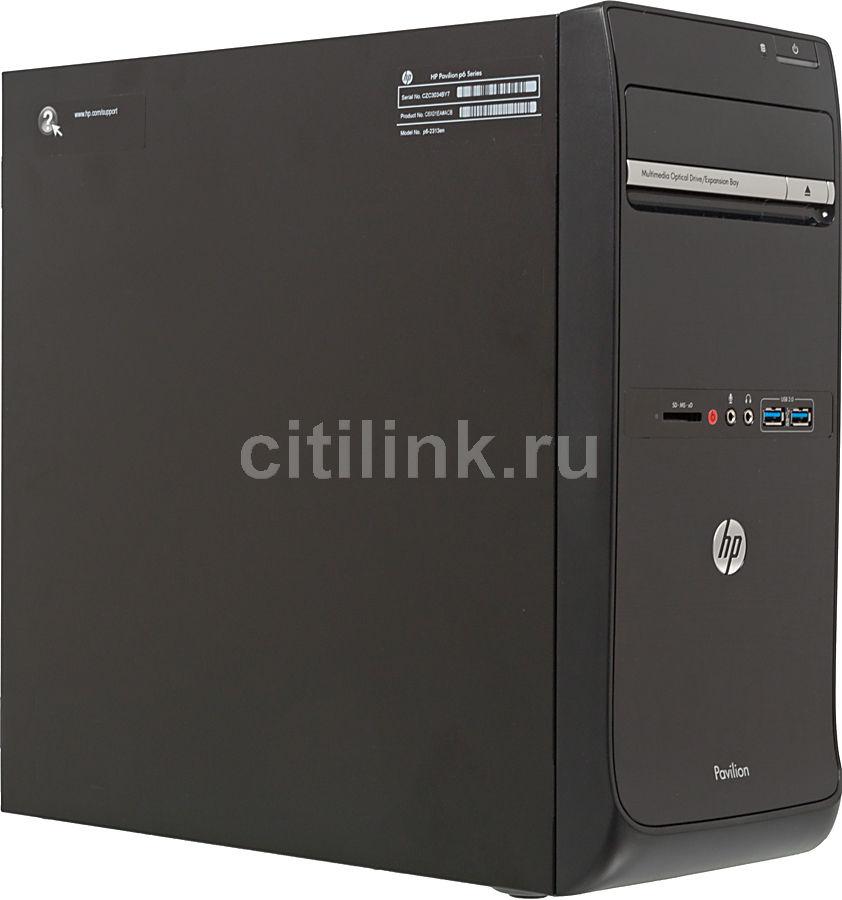 Компьютер  HP Pavilion p6-2313en,  Intel  Core i3  3350P,  DDR3 6Гб, 1000Гб,  AMD Radeon HD 7570 - 2048 Мб,  DVD-RW,  CR,  Windows 8,  черный [c6x01ea]