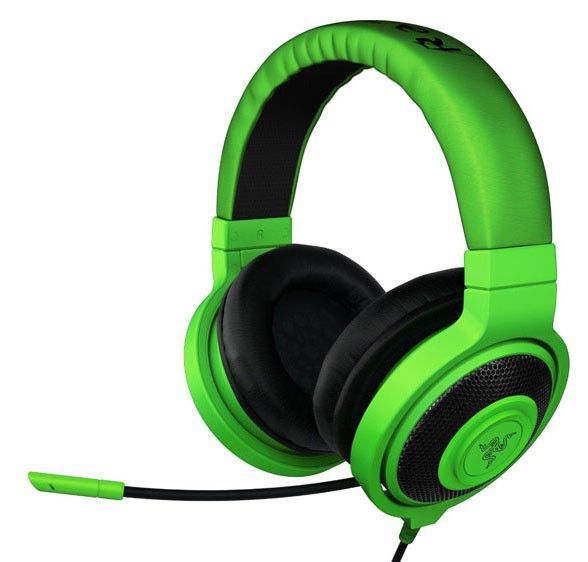 Наушники с микрофоном RAZER Kraken Pro,  мониторы, зеленый  [rz04-00870100-r3m1]