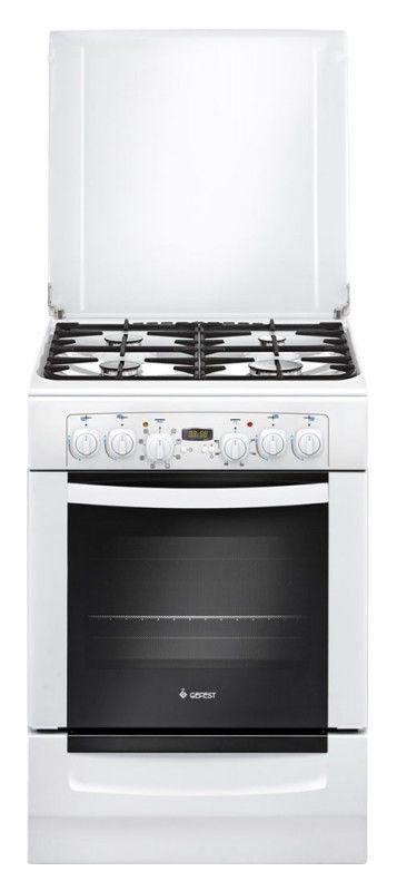 Газовая плита ГЕФЕСТ 6102-03,  электрическая духовка,  белый