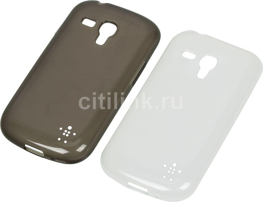 Чехол (клип-кейс) BELKIN F8M547VFC00-2, для Samsung Galaxy S III mini, черный (прозрачный)