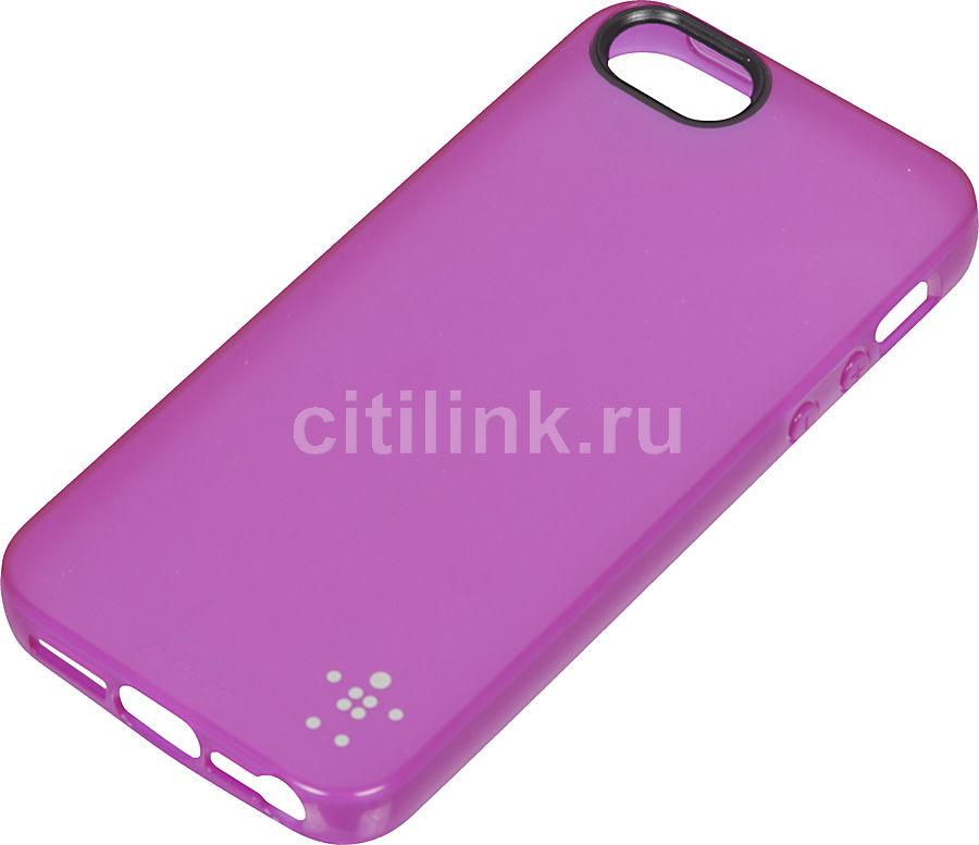 Чехол (клип-кейс) BELKIN F8W093vfC03, для Apple iPhone 5, фиолетовый