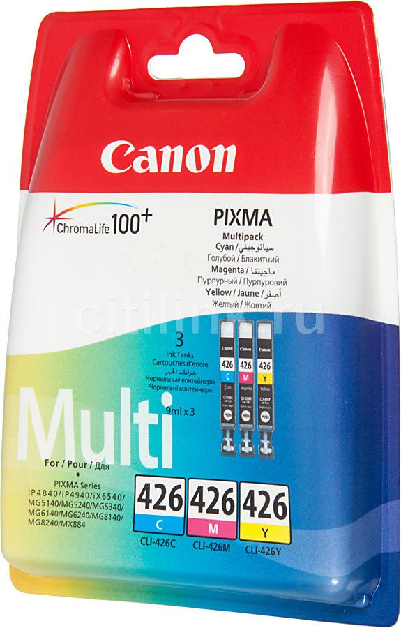 Набор картриджей CANON CLI-426CMY голубой / пурпурный / желтый [4557b006]