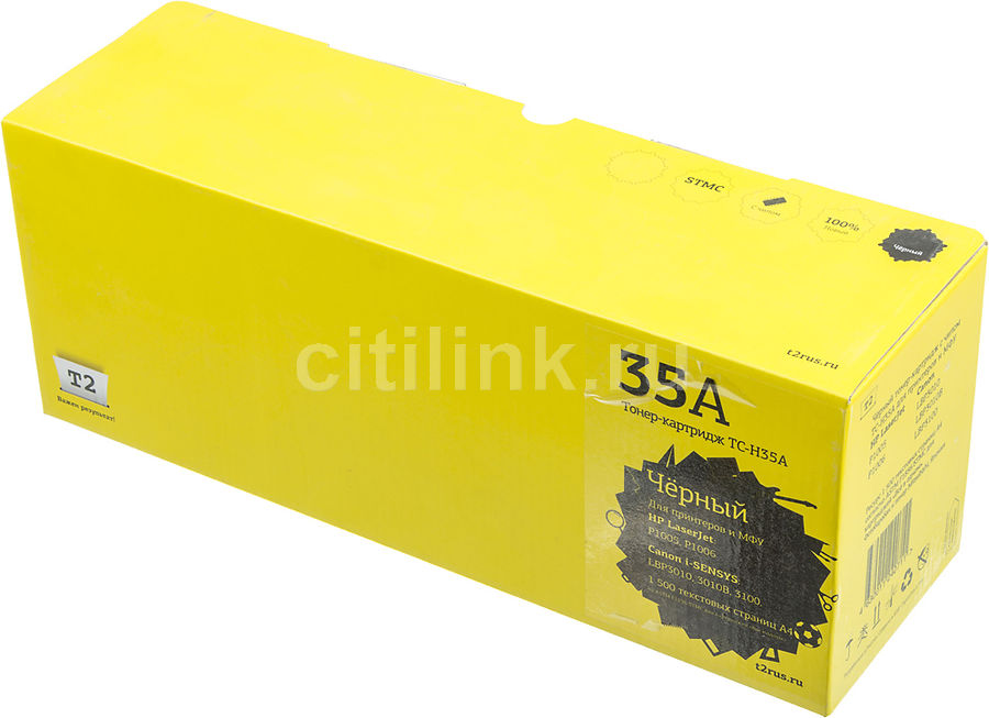 Картридж T2 CB435A TC-H35A,  черный