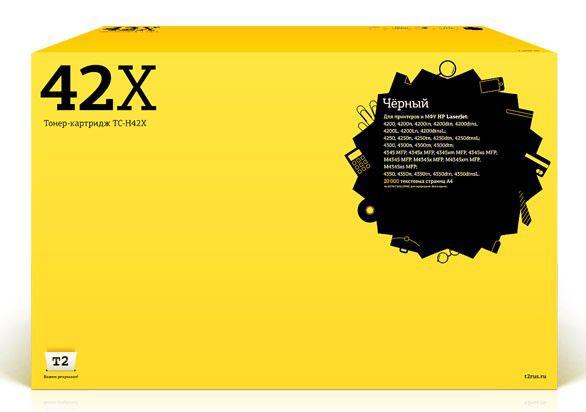 Картридж T2 Q5942X черный [tc-h42x]