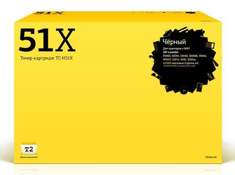 Картридж T2 Q7551X черный [tc-h51x]