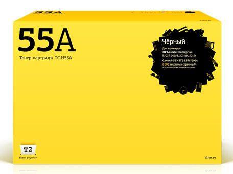 Картридж T2 CE255A, черный [tc-h55a]