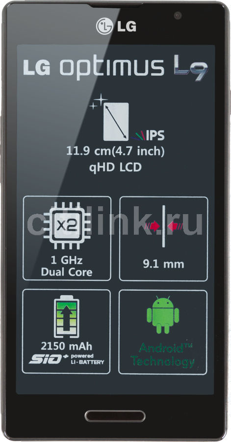 Смартфон LG Optimus L9 P765  черный