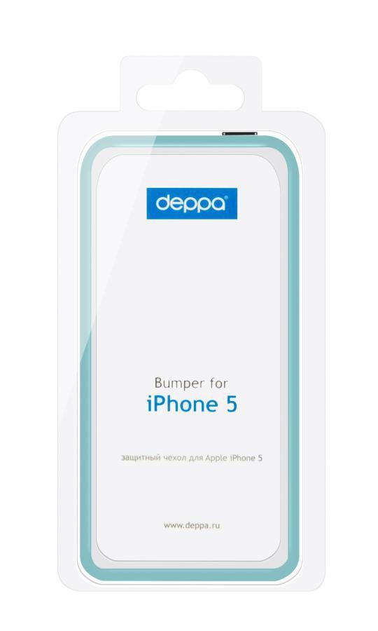 Бампер DEPPA для Apple iPhone 5, синий [63119]
