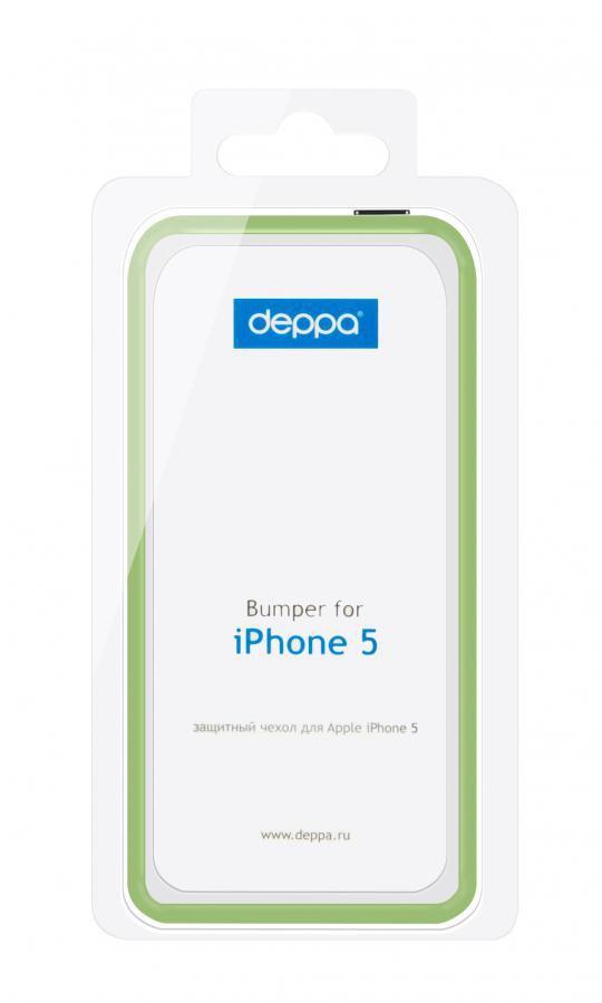 Бампер DEPPA для Apple iPhone 5, зеленый [63116]