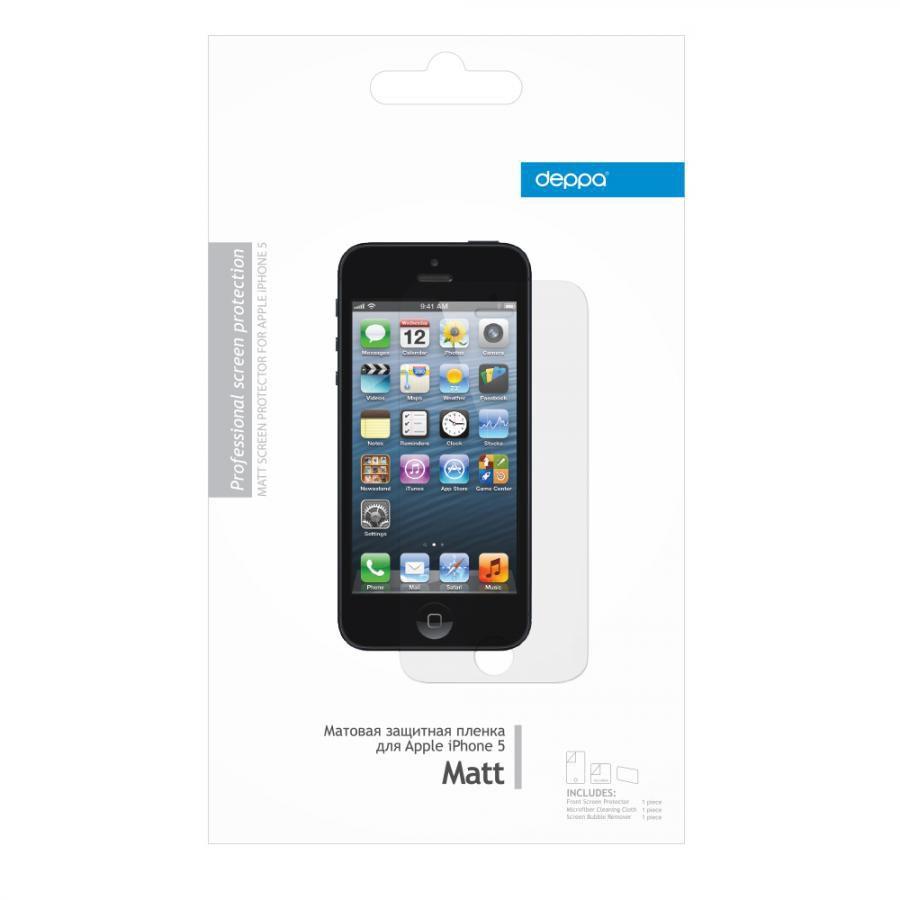 Защитная пленка DEPPA для Apple iPhone 5,  матовая [61007]