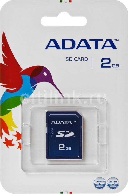 Карта памяти SD A-DATA Speedy 2 ГБ, ASD2GZ-R,  1 шт. [asd2gz-r ]