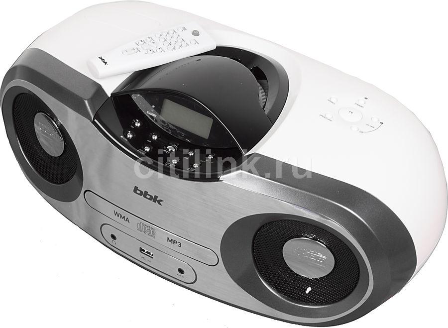 Аудиомагнитола BBK BX517U,  белый и серебристый