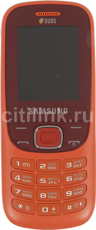 Мобильный телефон SAMSUNG GT-E2202  оранжевый