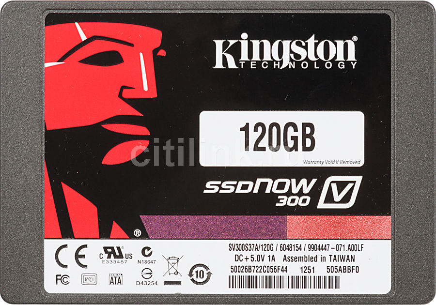 "Накопитель SSD KINGSTON V300 SV300S3N7A/120G 120Гб, 2.5"", SATA III"