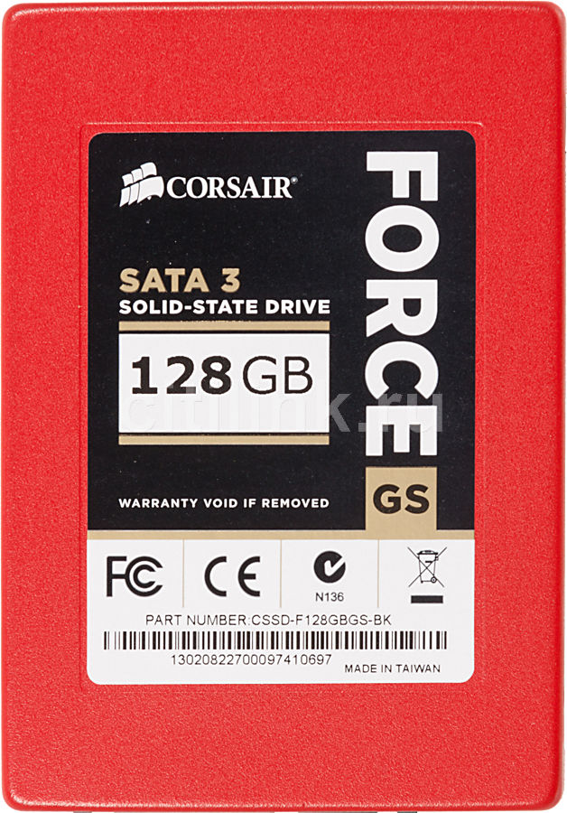 "Накопитель SSD CORSAIR Force GS CSSD-F128GBS-BK 128Гб, 2.5"", SATA III"