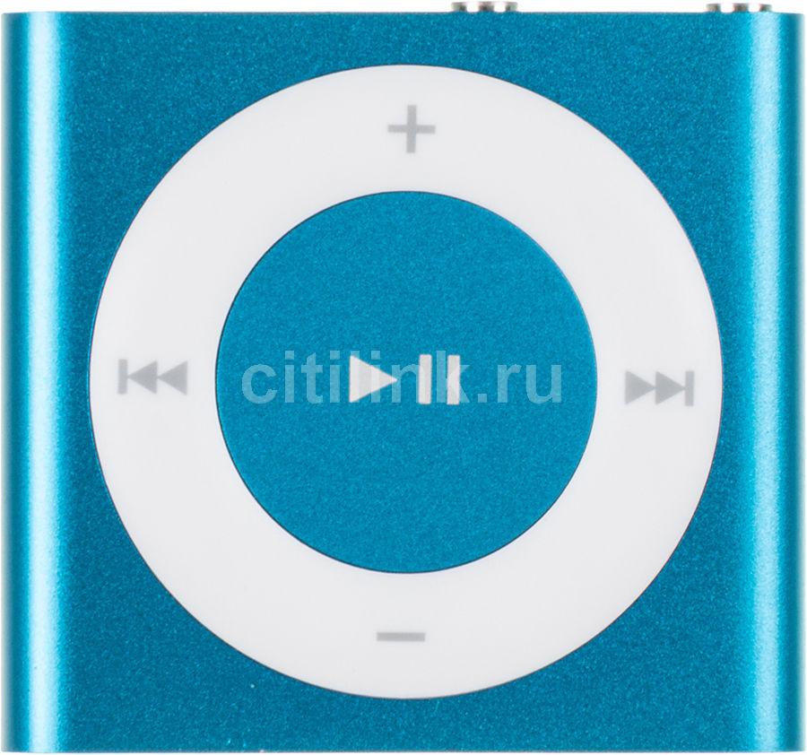 MP3 плеер APPLE iPod shuffle 4 flash 2Гб голубой/белый [md775]