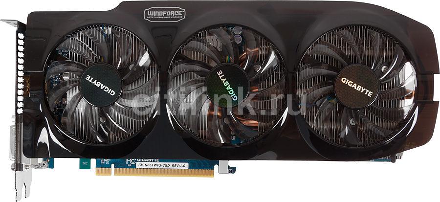 Видеокарта GIGABYTE GeForce GTX 660Ti,  3Гб, GDDR5, Ret [gv-n66twf3-3gd ]