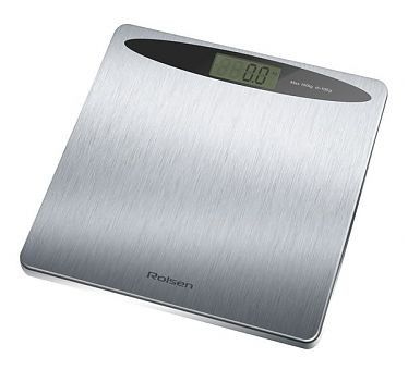 Весы ROLSEN RSL1516, до 150кг, цвет: серебристый