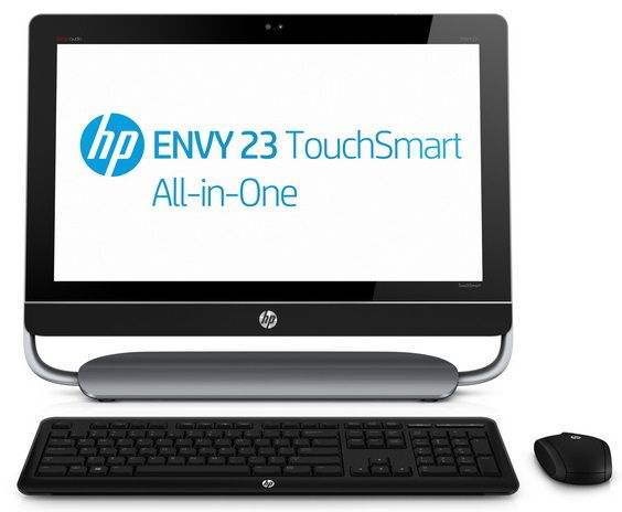 Моноблок HP ENVY 23-d100er, Intel Pentium G2020, 4Гб, 1000Гб, AMD Radeon HD 7450A - 1024 Мб, DVD-RW, Windows 8, черный и серый [d2m79ea]