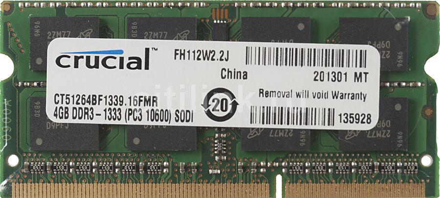 Модуль памяти CRUCIAL CT51264BF1339 DDR3 -  4Гб 1333, SO-DIMM,  Ret